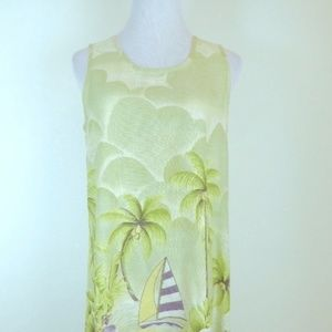 Tommy Bahama silk dress M sleeveless